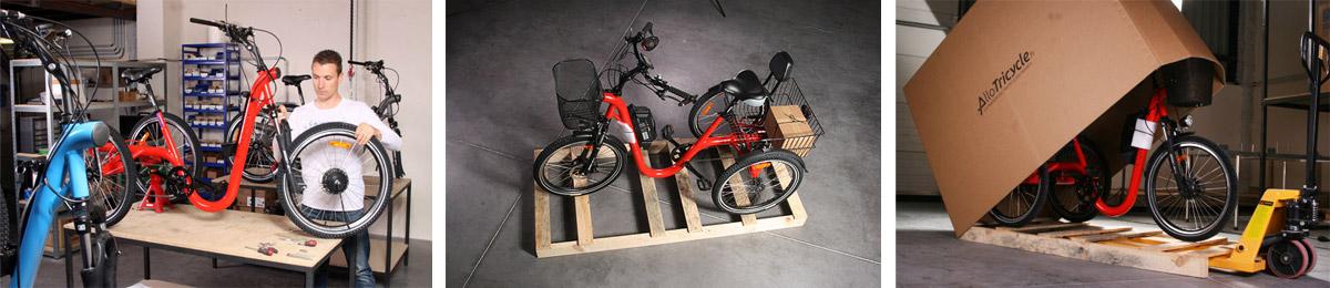 Assemblage et livraison tricycle Evasion