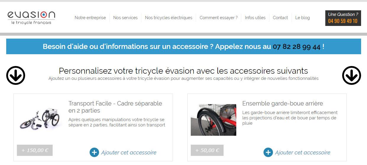 Configurez votre tricycle électrique Evasion